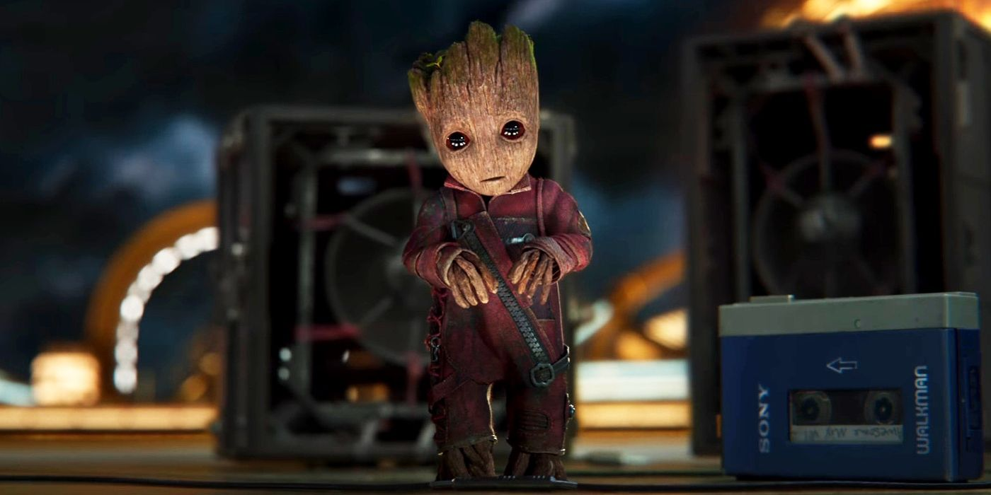 guardians of the galaxy 2 image baby groot ruins awesome mixtape 2