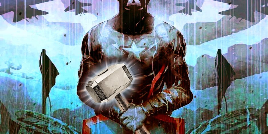 Captain America With Mjolnir In Comics