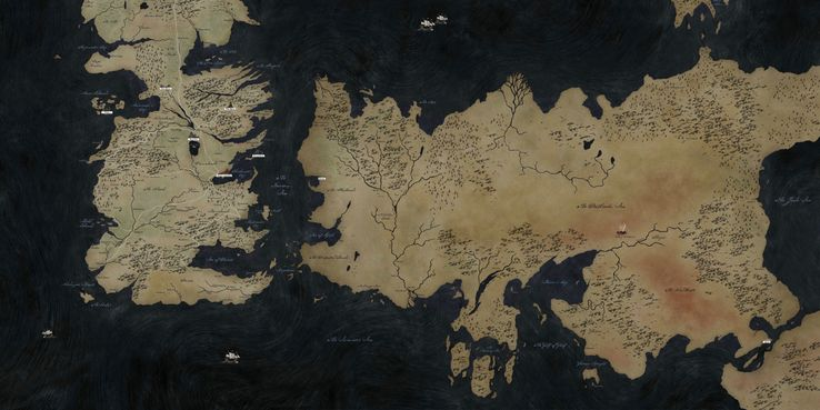 Game of Thrones Map Guide: Every Location Explained | ScreenRant Detailed Game Of Thrones Map on
