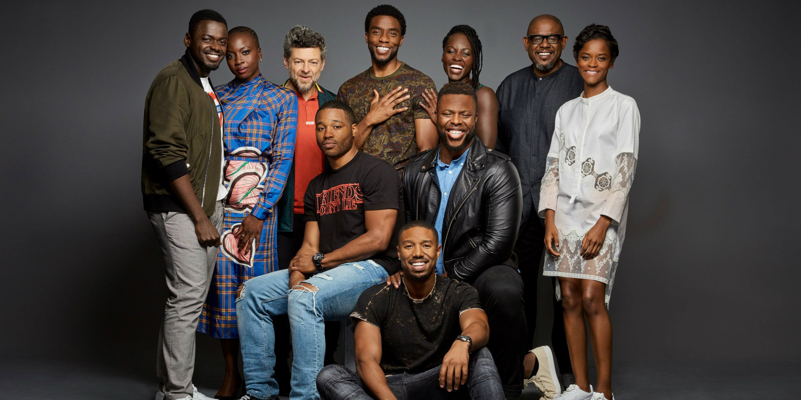 black panther cast reacts to sdcc footage screenrant. Black Bedroom Furniture Sets. Home Design Ideas