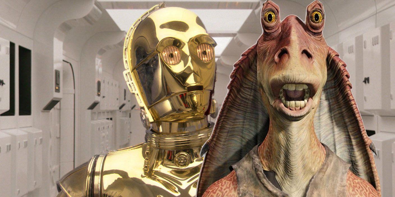 | Screen Rant C-3PO Jar Fan Binks A Isn