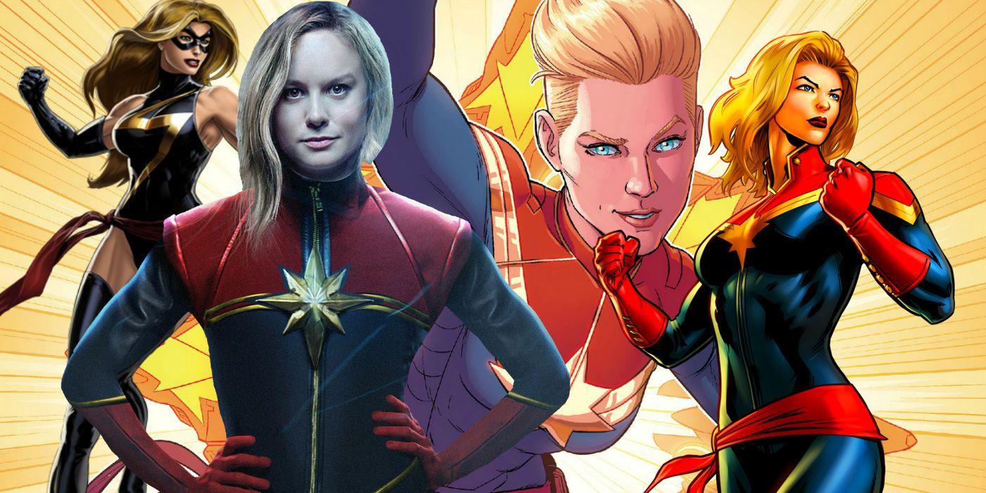 Captain Marvel S Evolution Based On Every Costume She S Worn The history of captain marvel's costumes. captain marvel s evolution based on