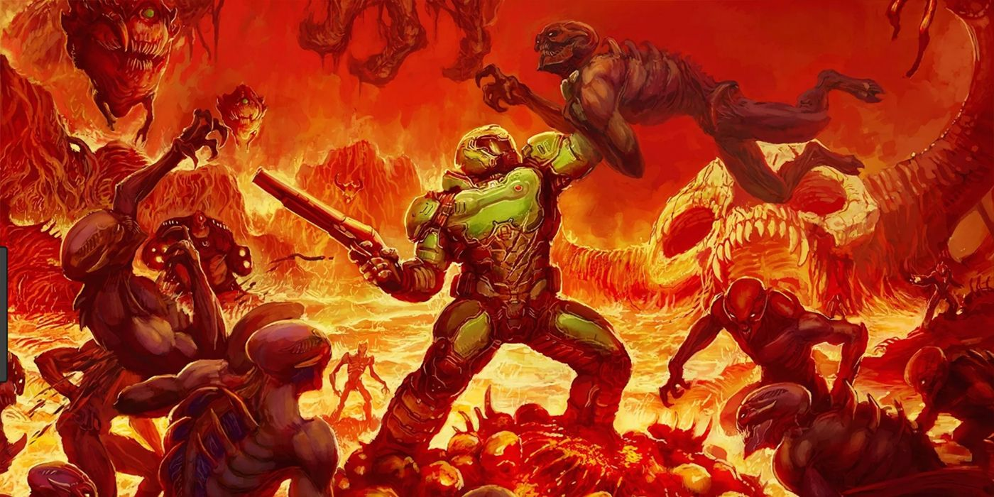 Doom Reboot Director Debunks Rumor Doomguy Isn T In Movie