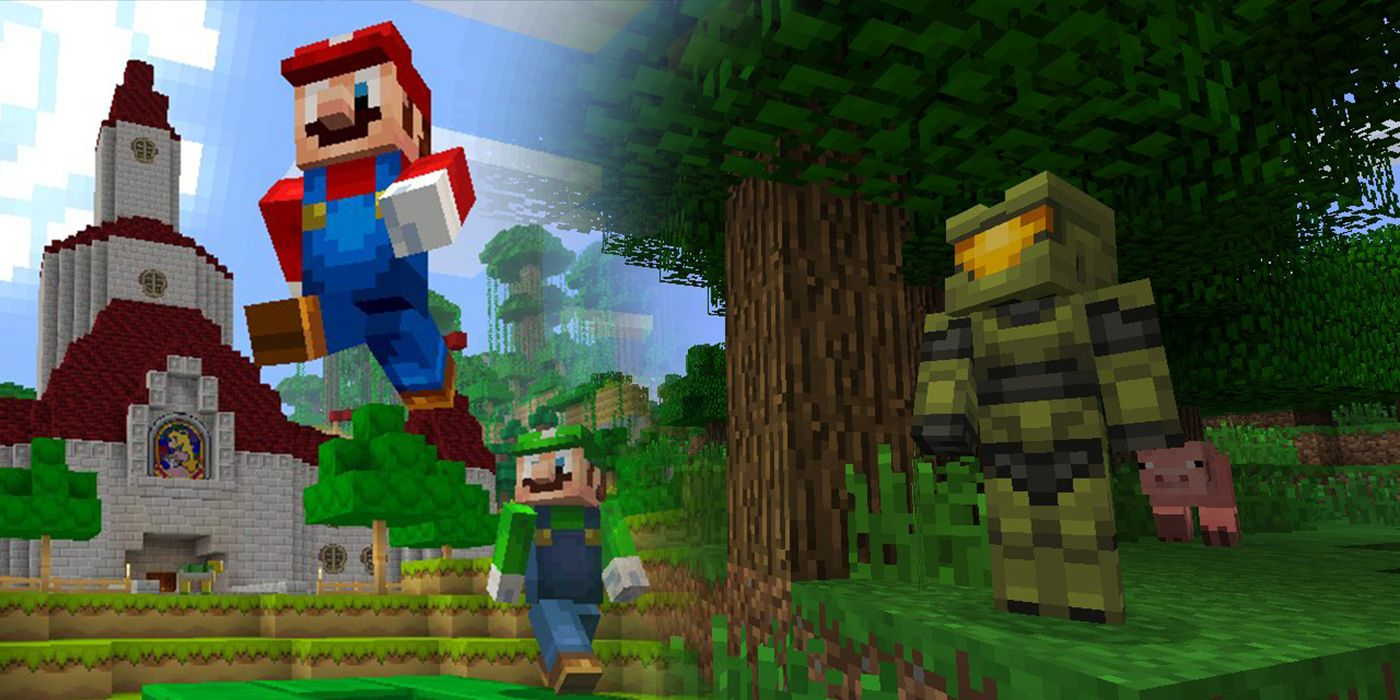 Microsoft & Nintendo Big Up Minecraft Cross-Play Together