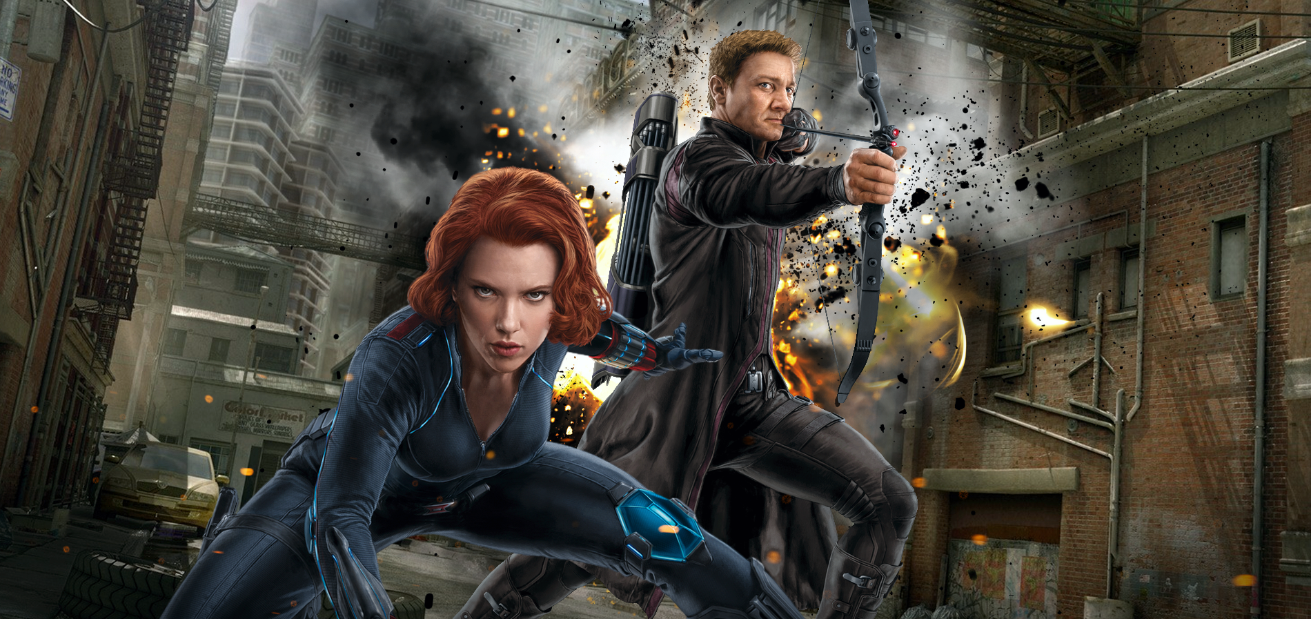 Image result for hawkeye and black widow