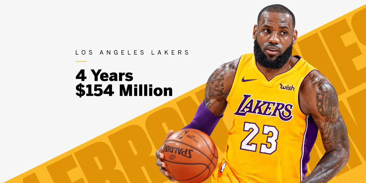 LeBron James Signs With Los Angeles Lakers For  154 million ac5d6dc5e