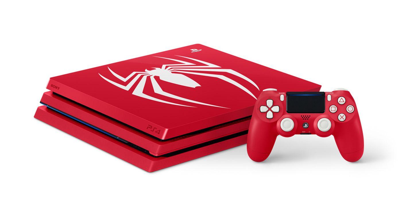 Ps4 Pro Se Pinta De Rojo Con Spider Man
