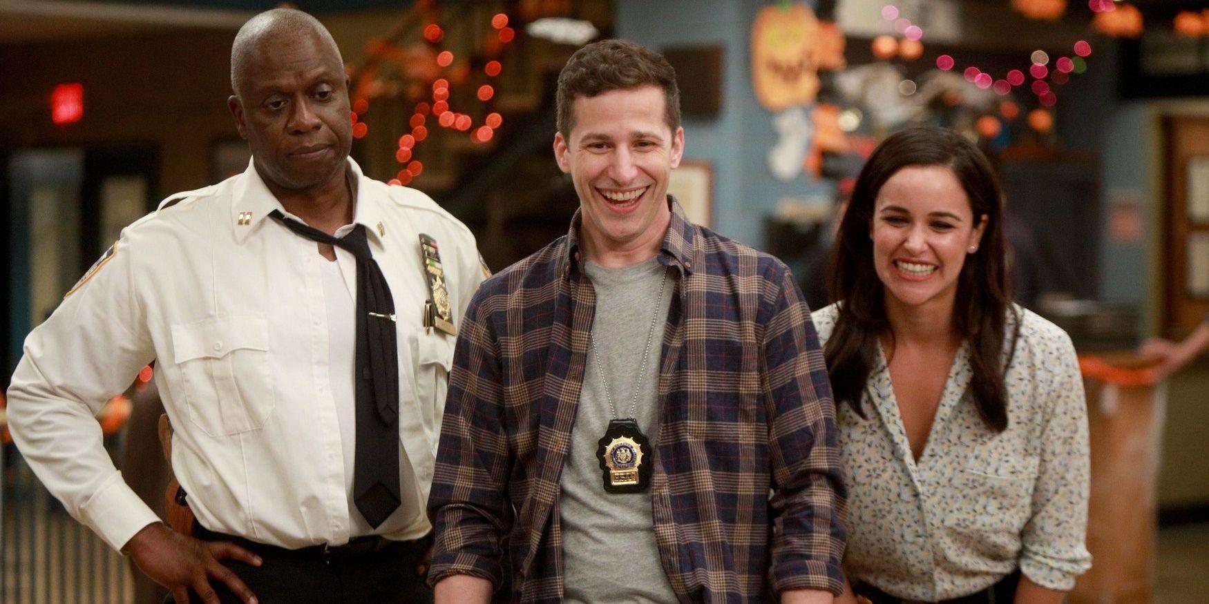 Brooklyn Nine-Nine stars Melissa Fumero and Andre Braugher