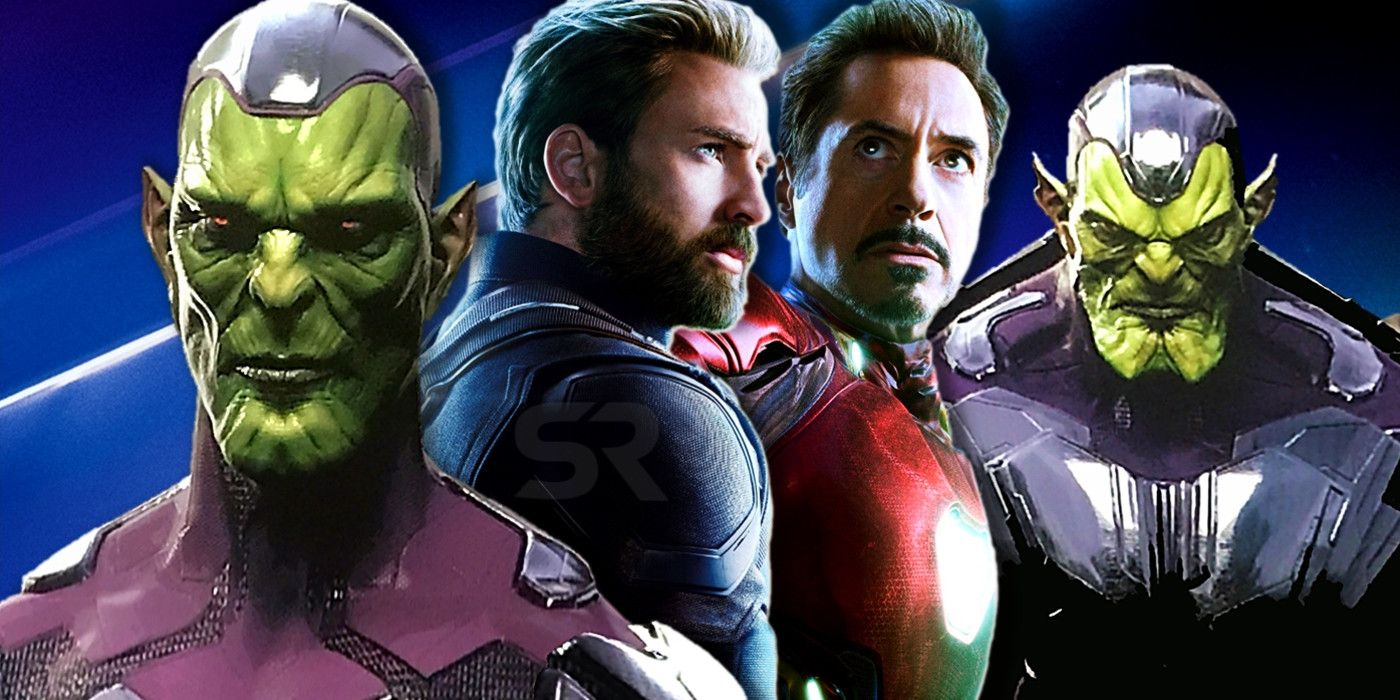 Image result for Yes, we talked about Secret Invasion. I wouldn't go into this movie saying, 'Which one of these superheroes is a Skrull?' Because Carol is more or less the first superhero to show up on Earth. But are we planting seeds for future movies? Always