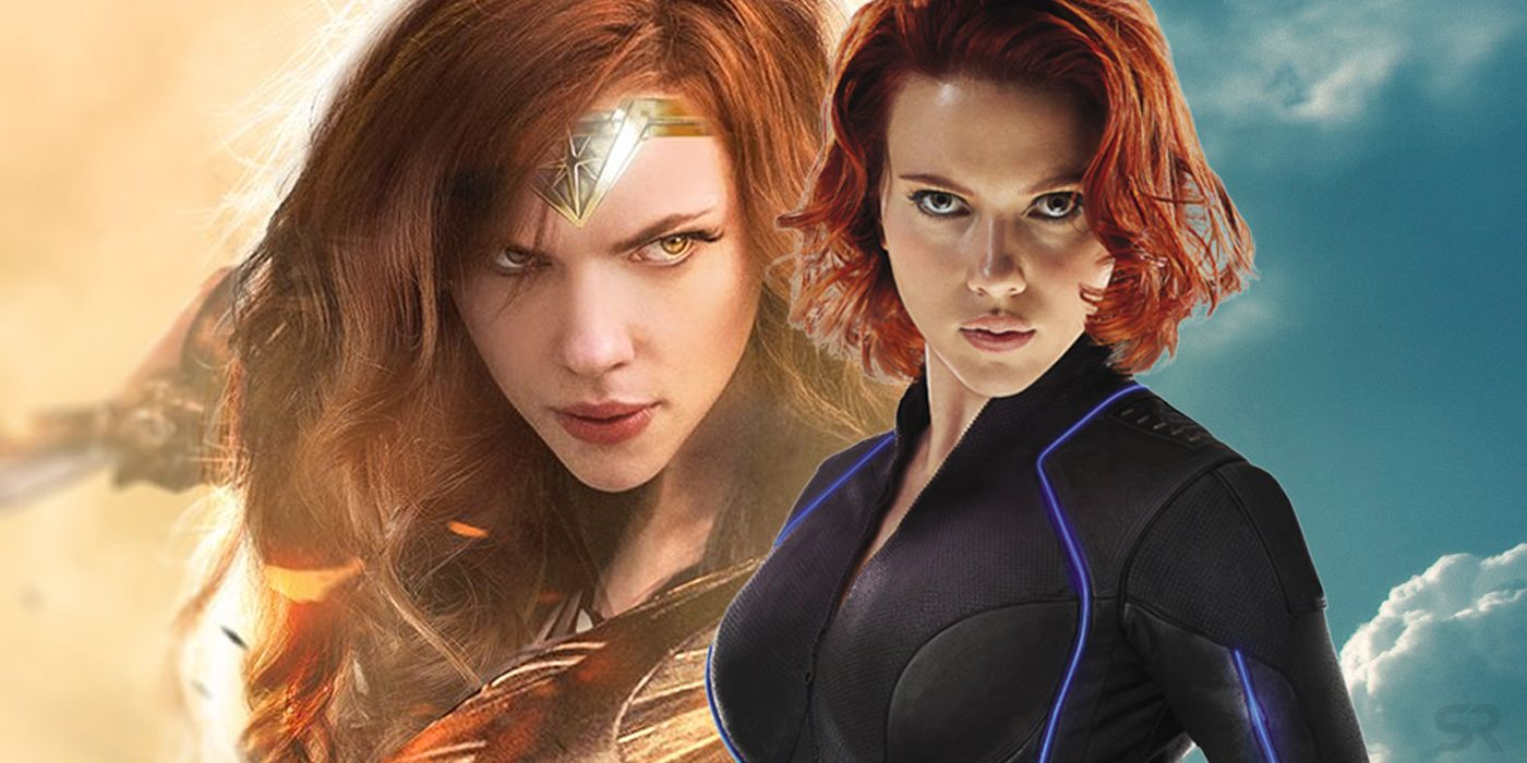 what scarlett johansson would look like as the dceu's wonder woman