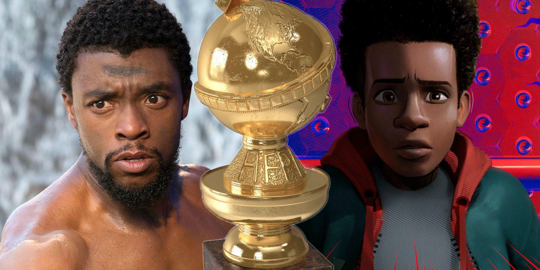 Black Panther Spider Verse Land Golden Globe Nominations