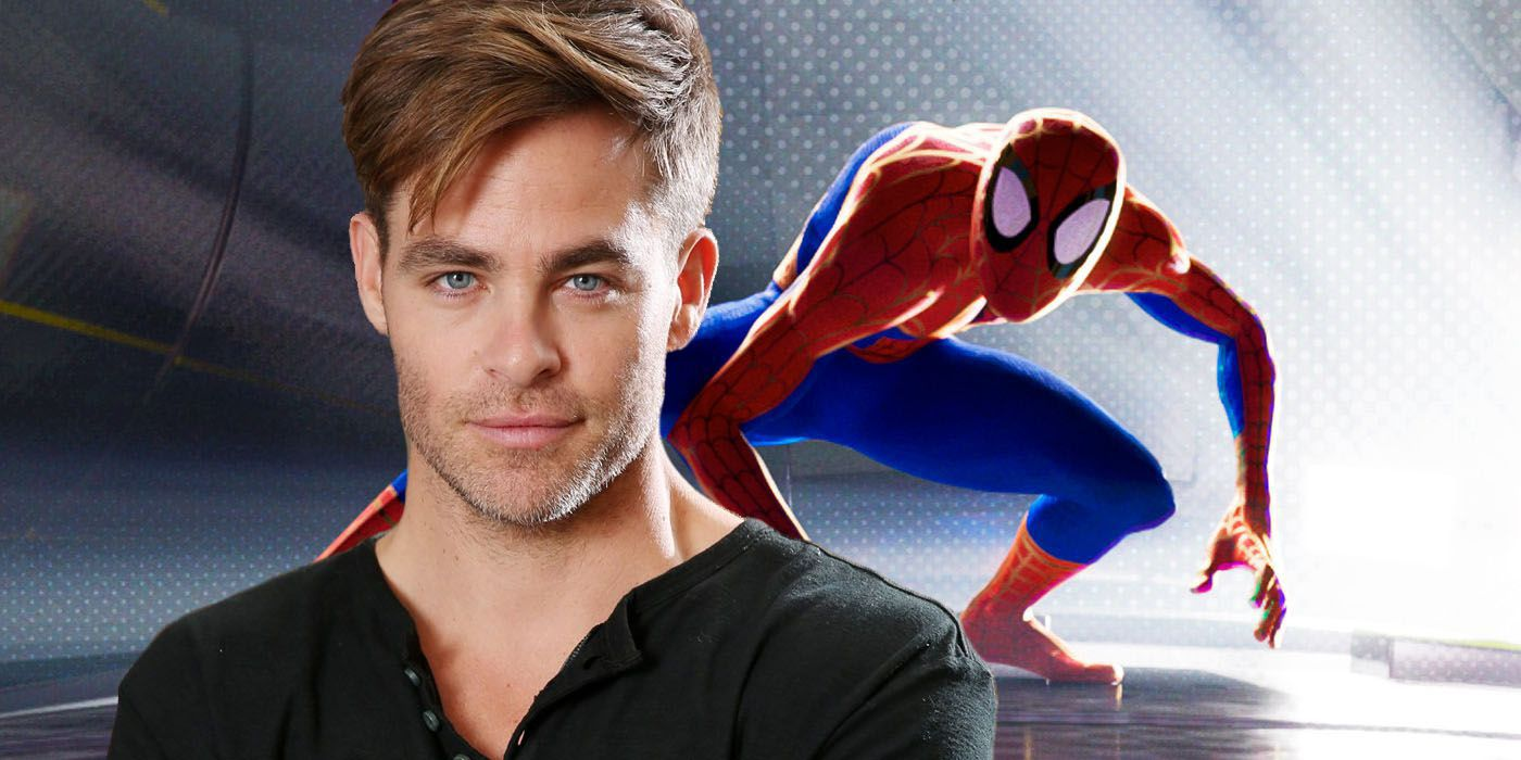chris pine 39 s spider man into the spider verse role explained. Black Bedroom Furniture Sets. Home Design Ideas