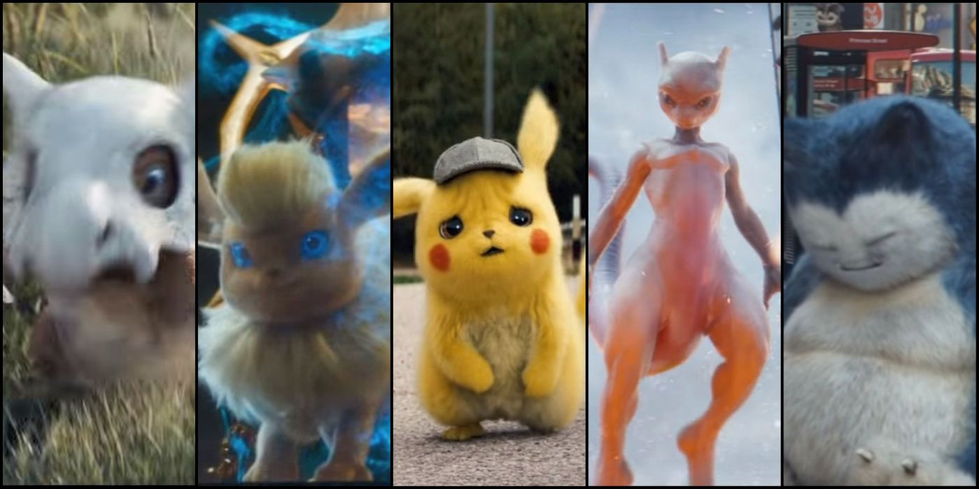 detective pikachu pokemon designs