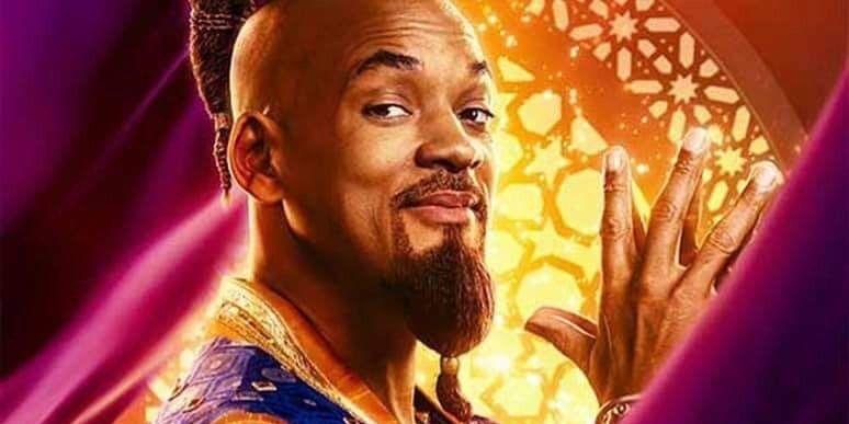 Aladdin 2019 posters spotlight main characters non blue genie - Aladdin 2019 poster ...