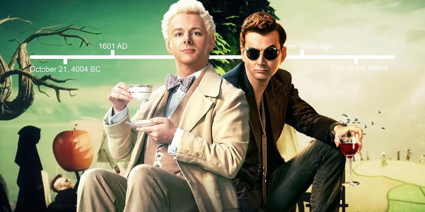 good omens timeline explained  everything in chronological