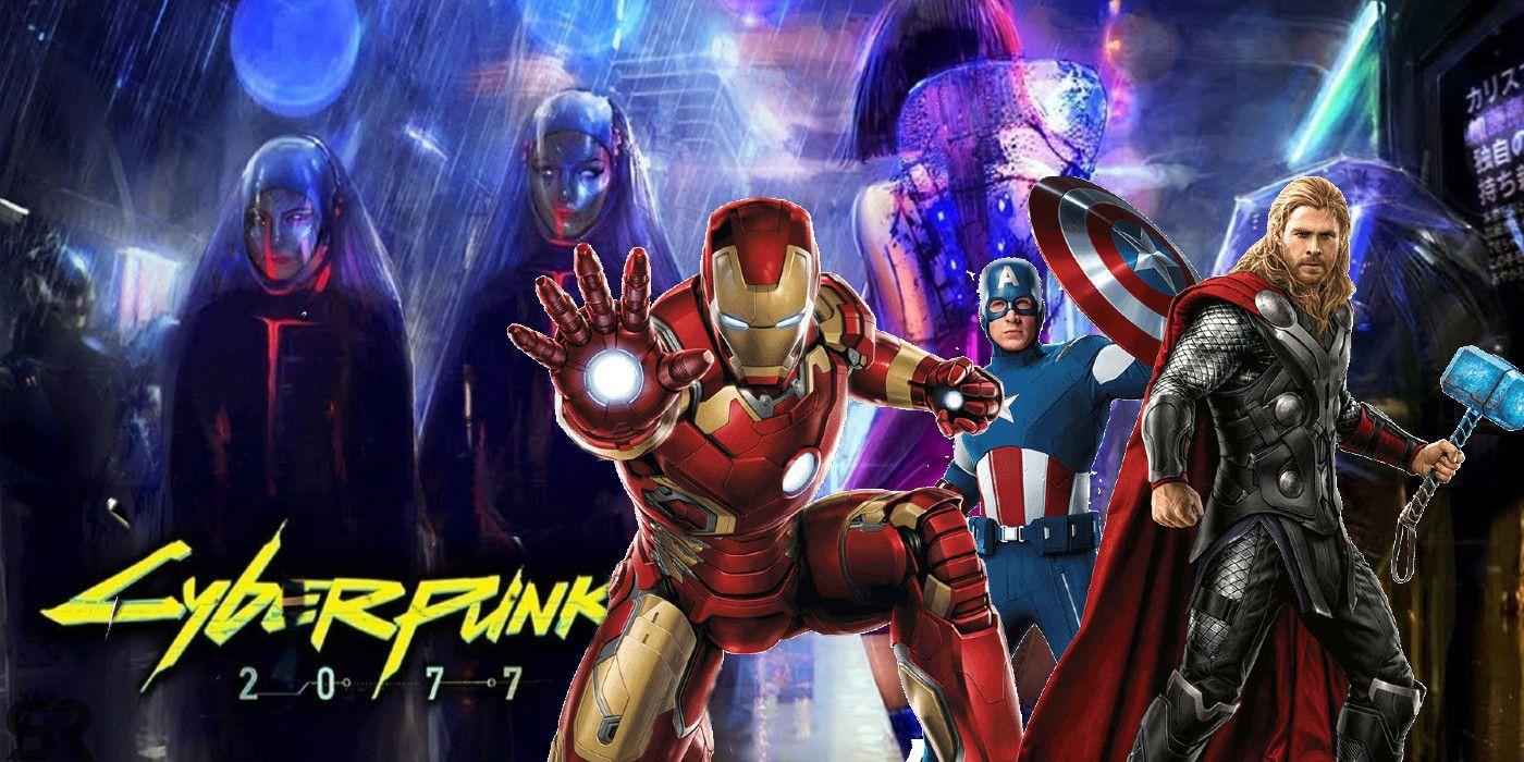 If The Avengers Were Cyberpunk 2077 Characters | Screen Rant