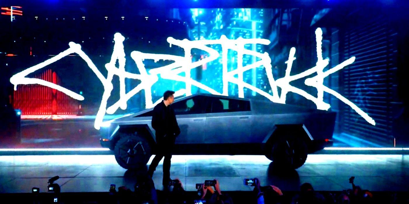 Cybertruck Tesla Looks Like It's From Cyberpunk 2077