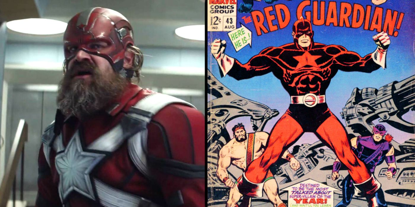 Black Widow Movie How Red Guardian Compares To Marvel Comics