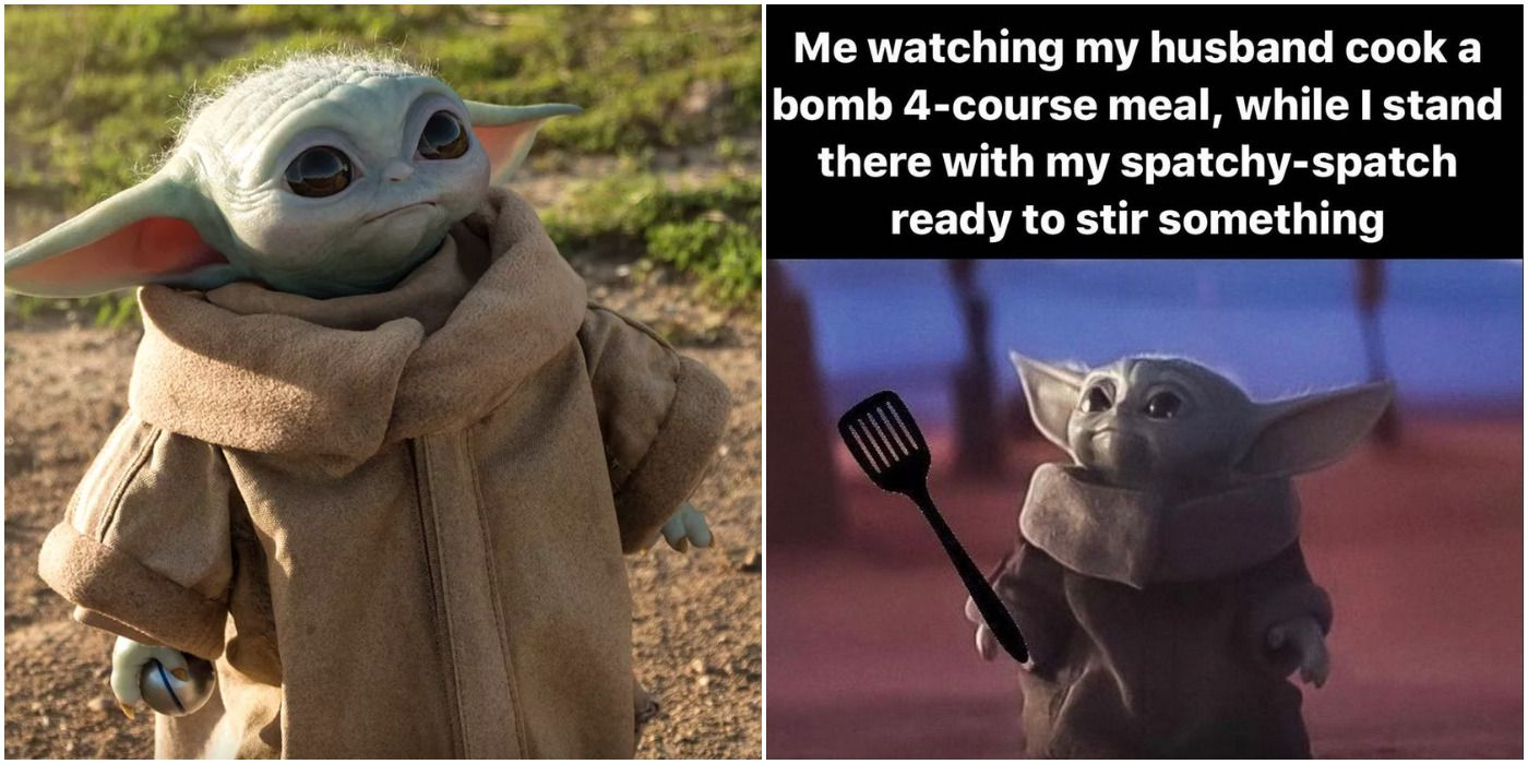 "15 Funniest Baby Yoda ""Looking Up"" Memes | ScreenRant"