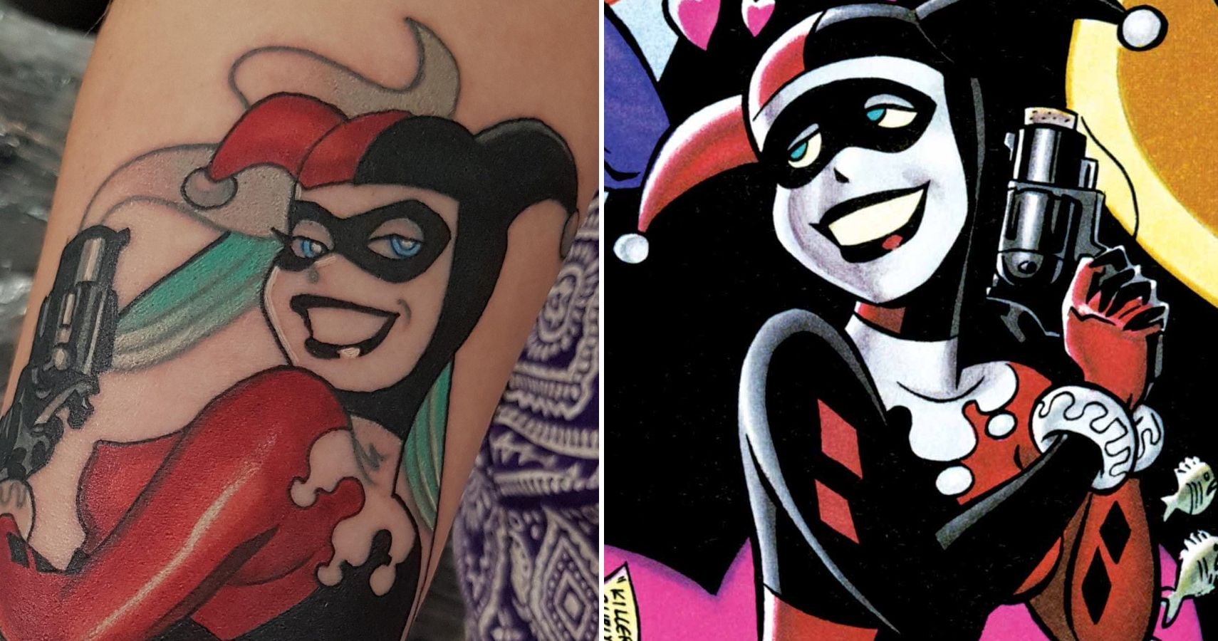 Harley Quinn 10 Tattoos Only Devoted Fans Will Understand