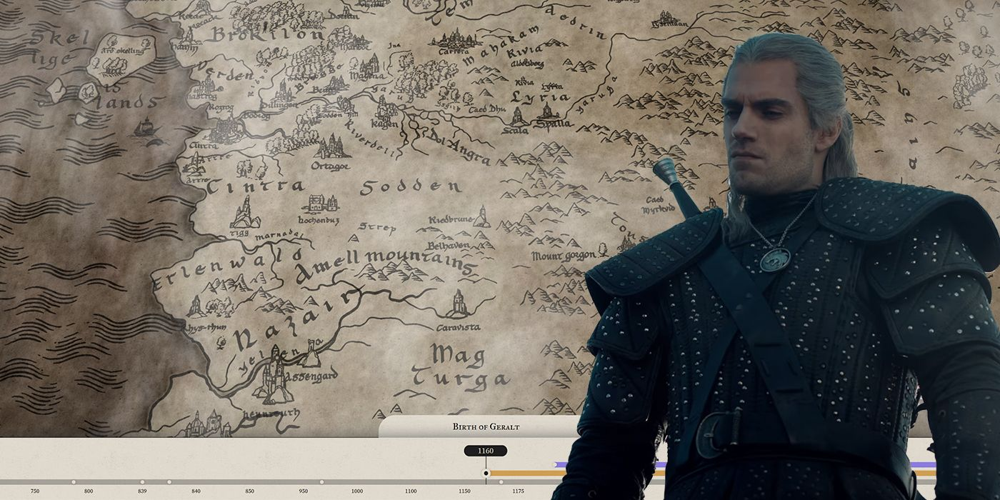 Netflix Releases Official Witcher Map & More Detailed Timeline