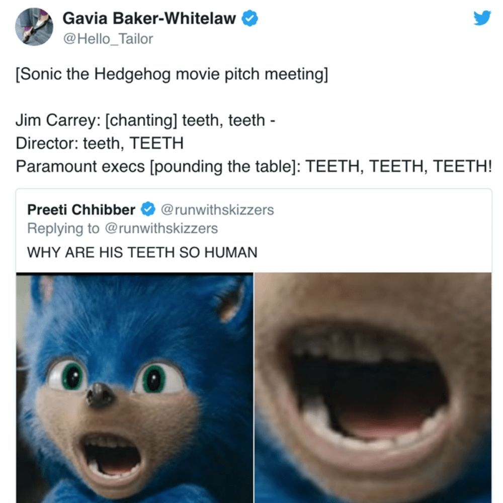 In360news 10 Hilarious Sonic The Hedgehog Movie Memes Only True Fans Will Understand