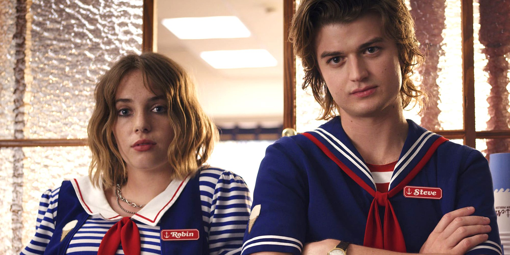 Steve & Robin Team Up With New Character in Stranger Things Season 4 Set Photos