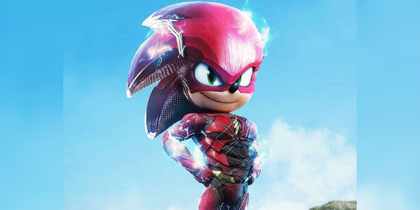 Sonic The Hedgehog Becomes The Flash In Awesome Fan Art