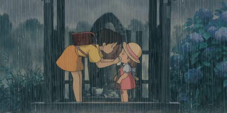 My Neighbor Totoro Satsuki And Kanta Kiss