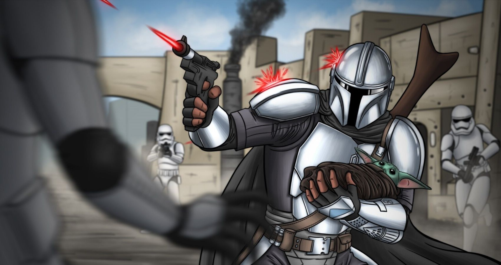 Star Wars: 10 Pieces Of The Mandalorian Fan Art That Are Definitely The Way