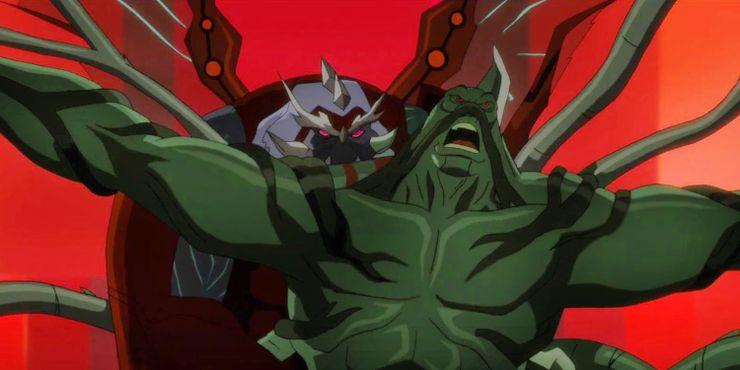 Liga da Justiça Sombria: Guerra de Apokolips revela o verdadeiro nível de poder do Swamp Thing (Monstro do Pântano) na guerra de Apokolips 1