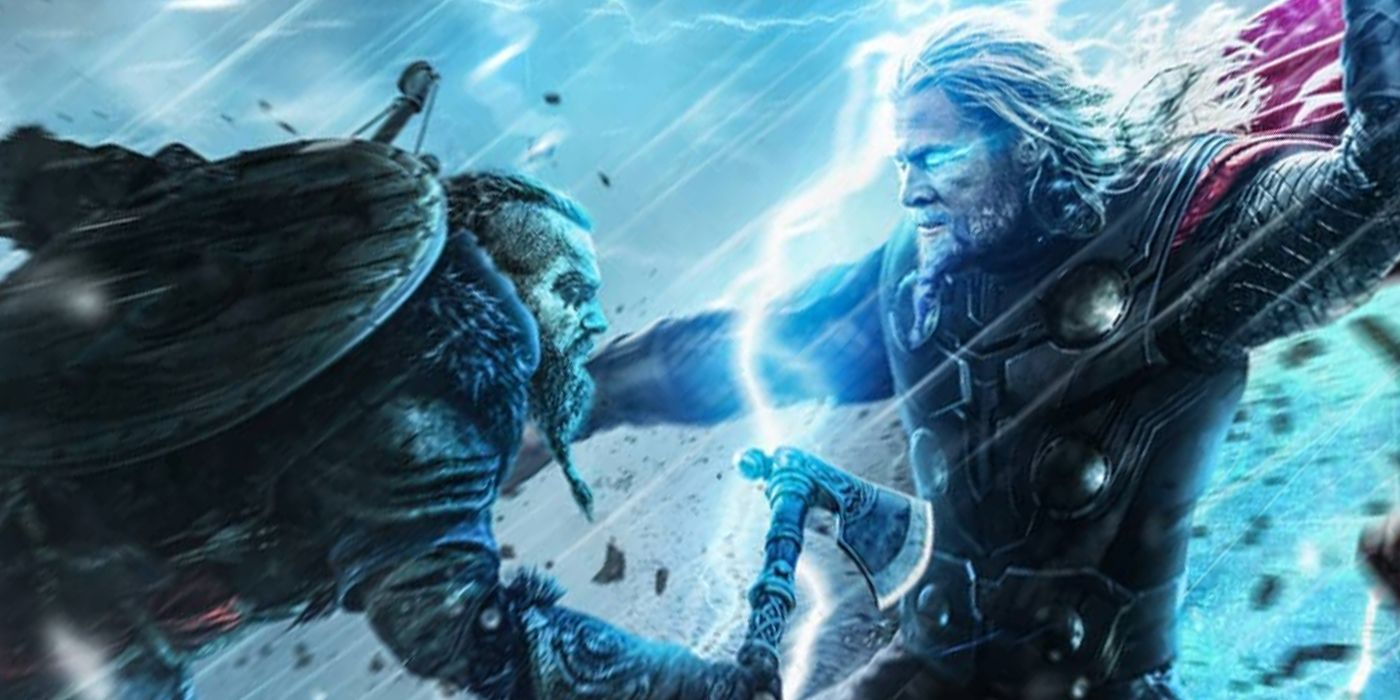 Thor Fights Assassins Creed Valhalla S Eivor In New Fan Art