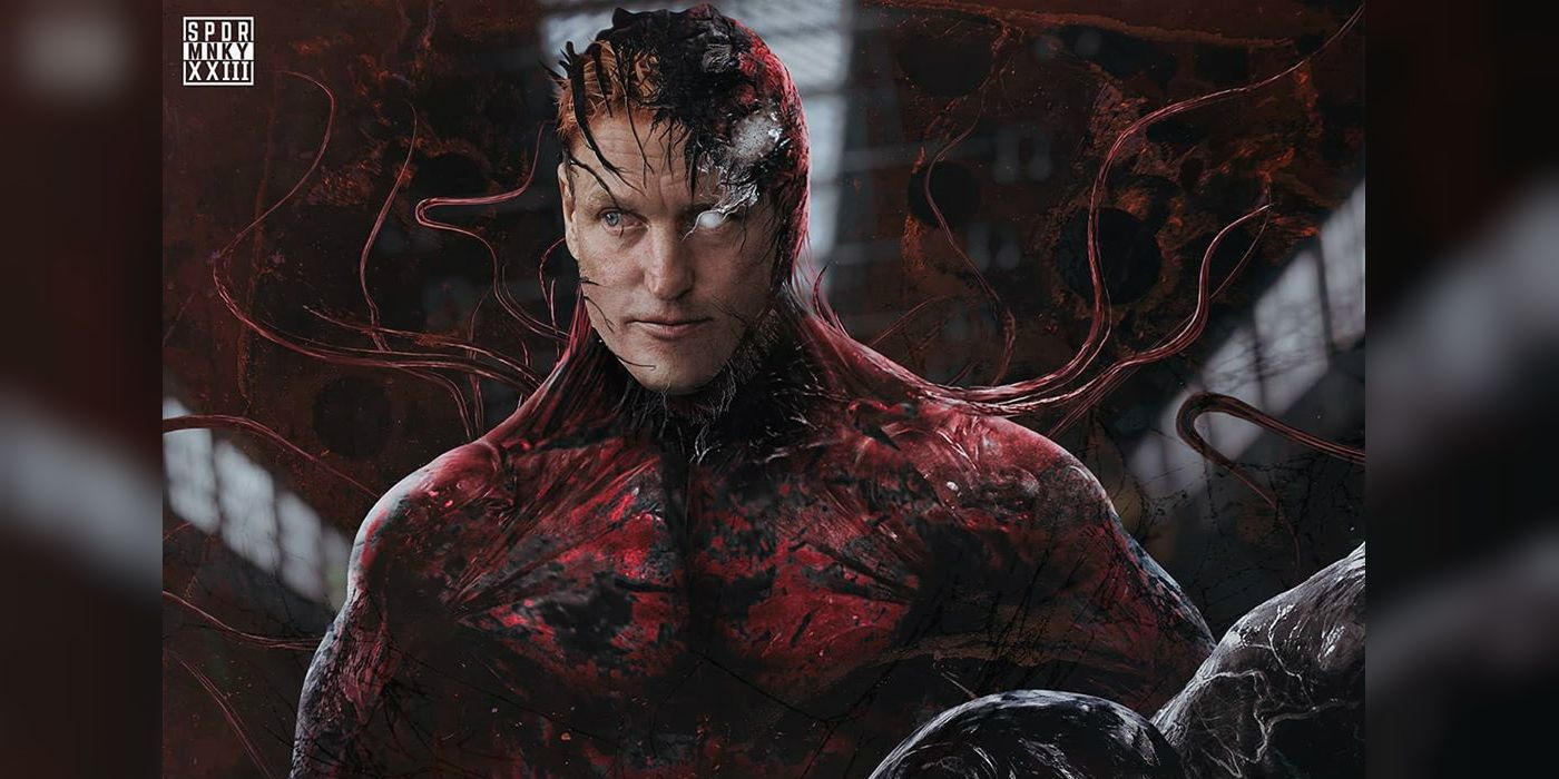 Venom 2 What Woody Harrelson S Carnage Symbiote Could Look Like Carnage