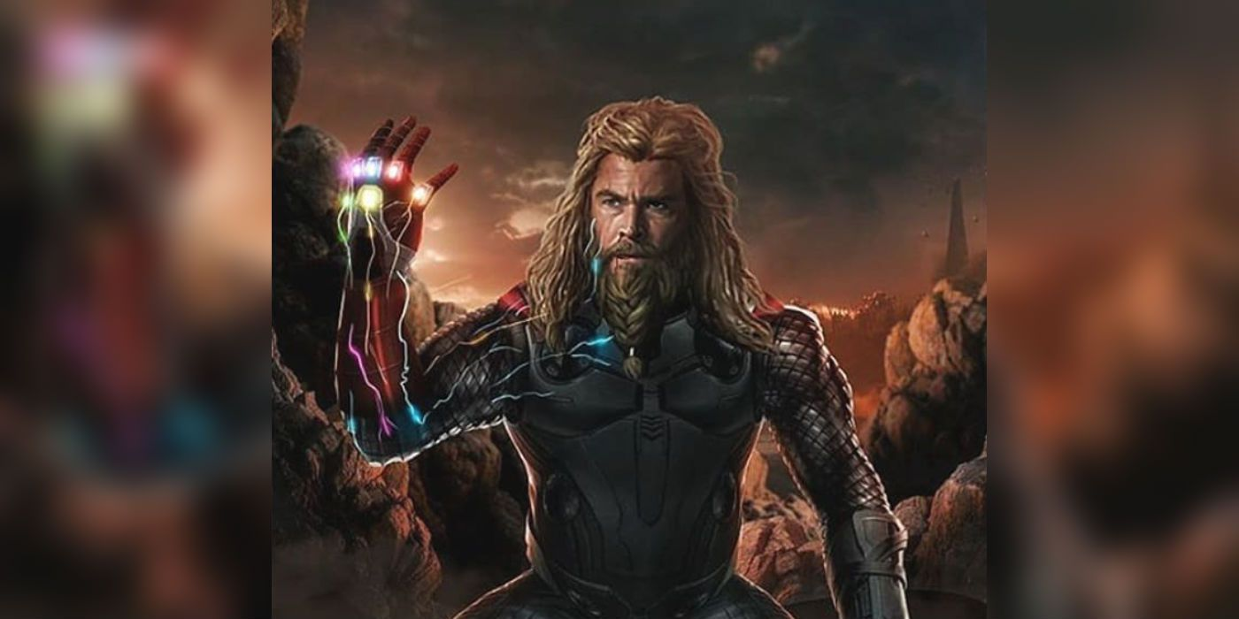 Thor Does The Snap & Sacrifices Himself In Avengers: Endgame Fan Art