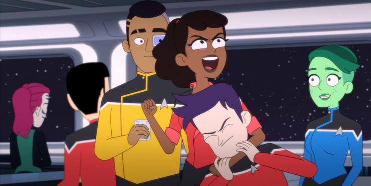 The main four characters of Star Trek: Lower Decks