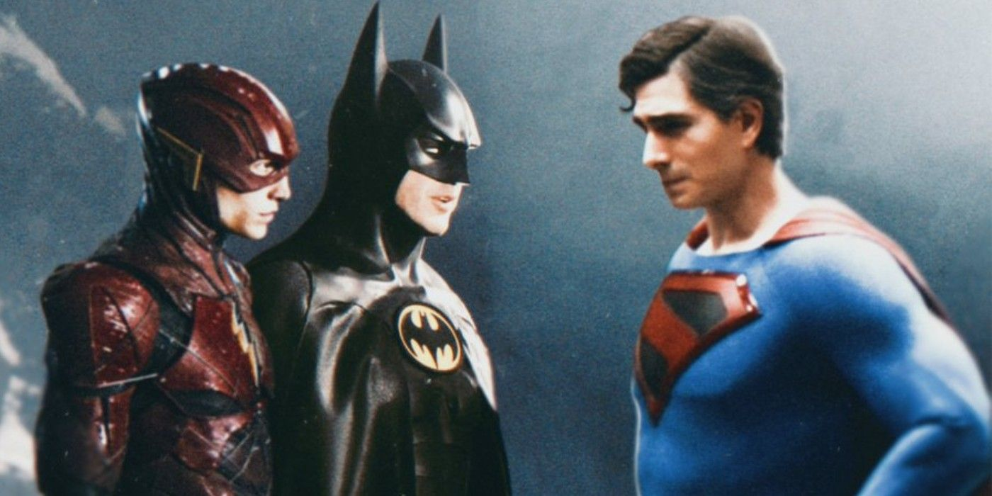Brandon Routh's Superman Joins Keaton's Batman in Flash Movie Fan Art