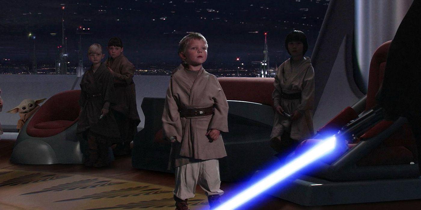 Baby Yoda Hiding From Anakin Fan Edit