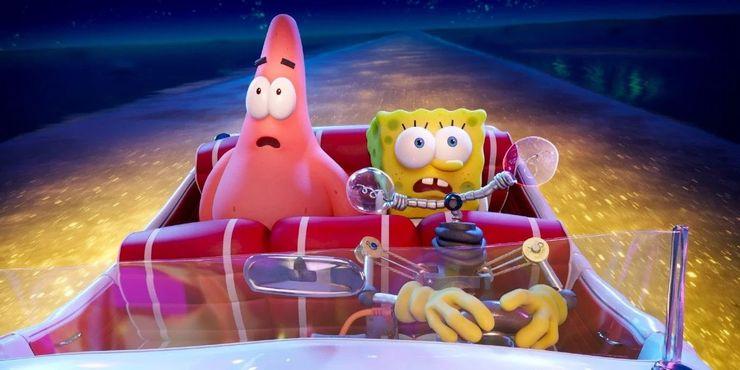 SpongeBob SquarePants and Patrick Star in The SpongeBob Movie Sponge on the Run