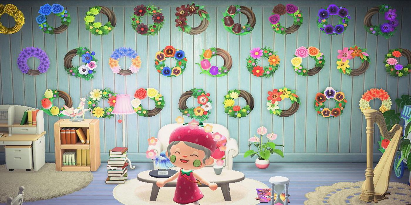Animal Crossing Flower Wreaths Made In Real-Life By Crafty Player