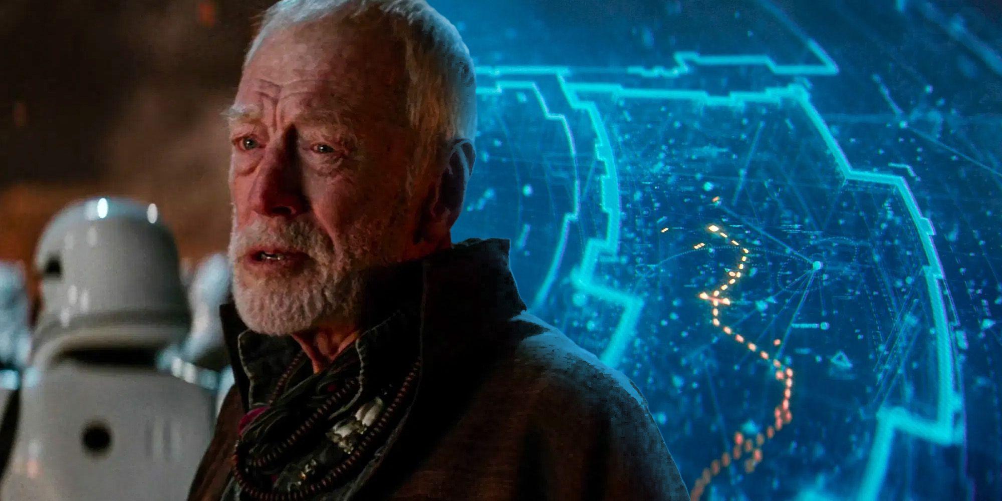 Star Wars Explains Force Awakens Map Origins (& How Lor San Tekka Got It)