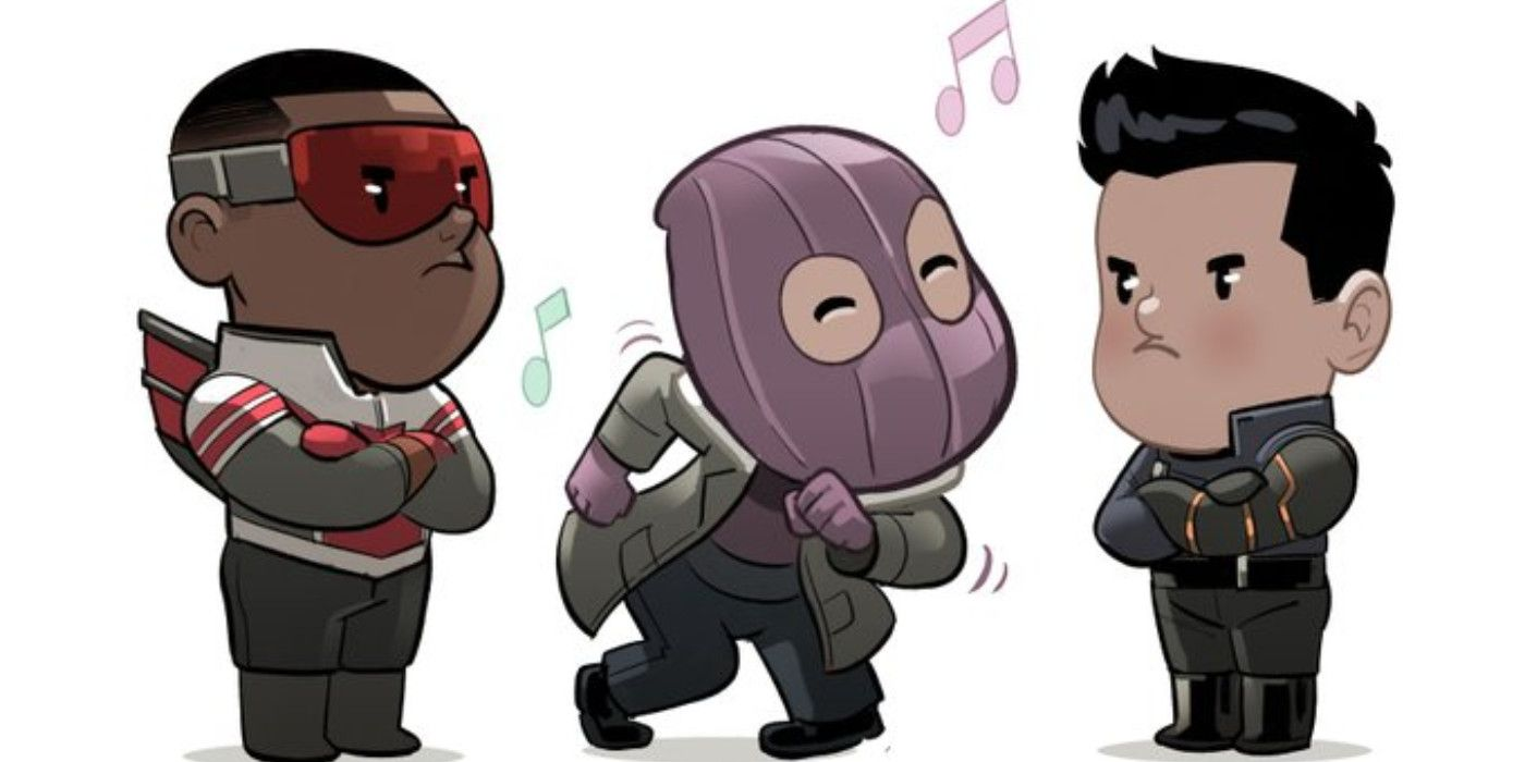 Cute Falcon & Winter Soldier Art Highlights Dancing Zemo From Episode 3 –  Hot Movies News