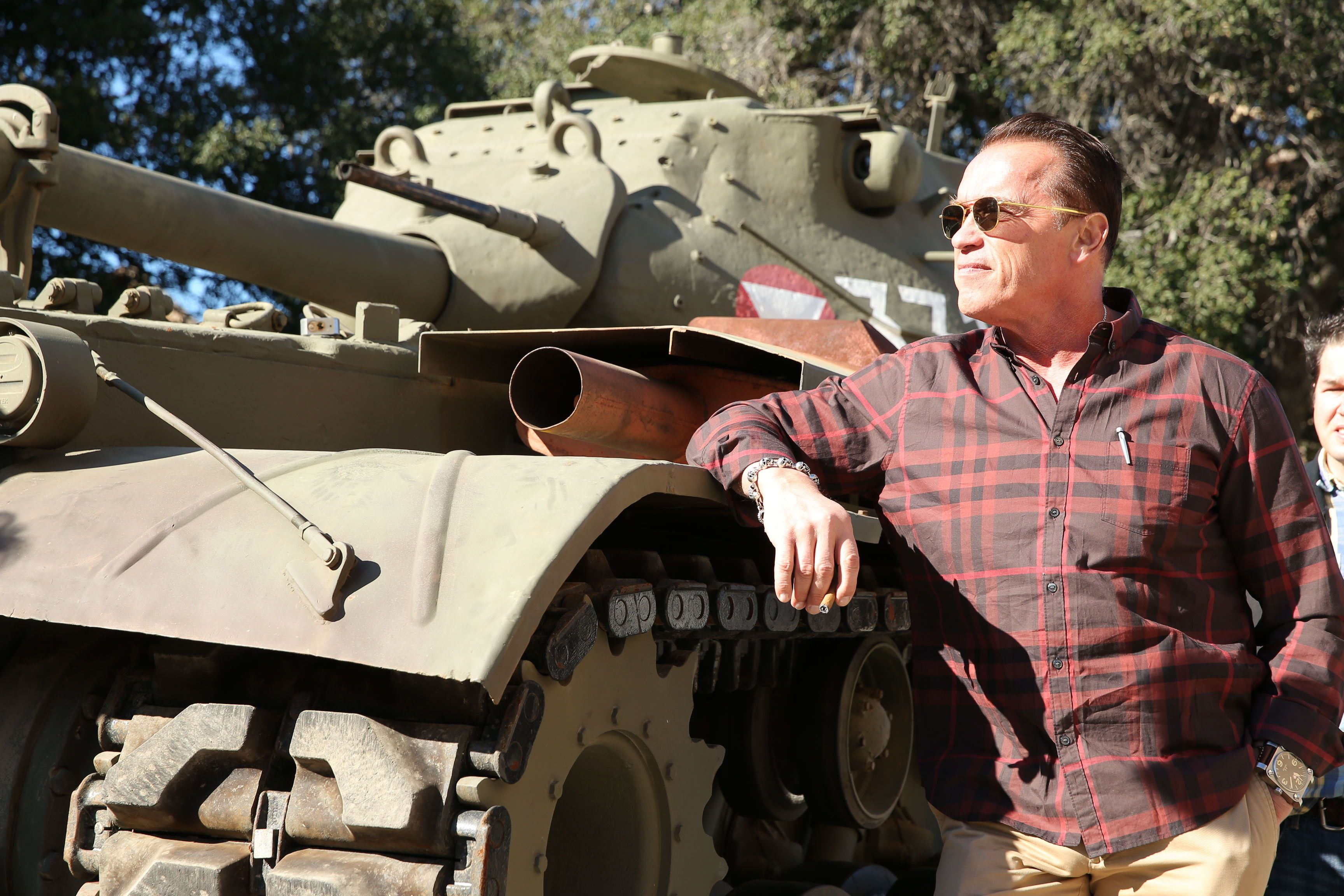 The Last Stand' Interview: Arnold Schwarzenegger Takes Us on a Tank Ride