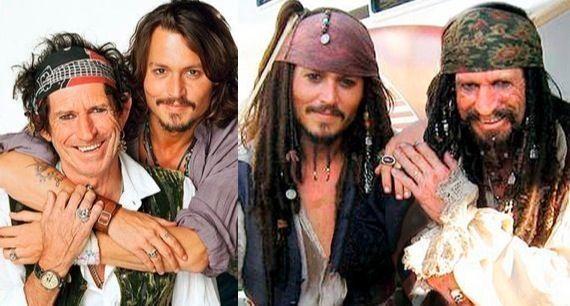 ผลการค้นหารูปภาพสำหรับ pirates of the caribbean johnny depp and keith richard